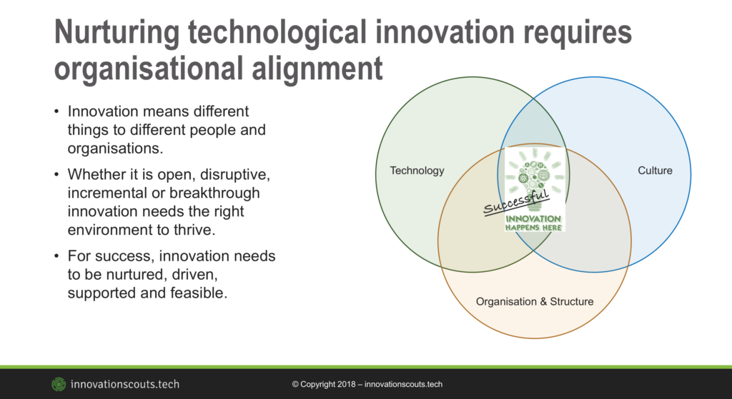 Nurturing innovation in corporations requires alignment