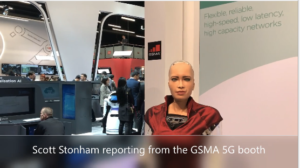 Sophia at the GSMA Innovation City, #MWC19