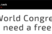 Fancy a free pass for Mobile World Congress (MWC2020)
