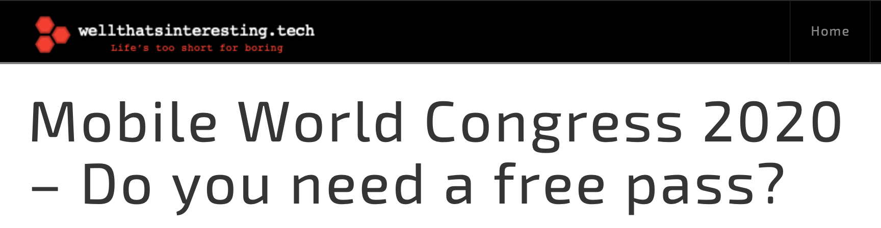 free pass for mobile world congress